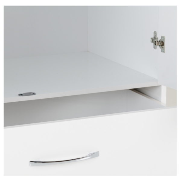 BBS1254  Nevada 2 door 1 drawer wardrobe in White