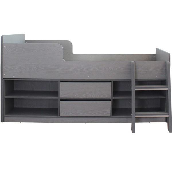 BuBS1292  Felix low sleeper bed in grey