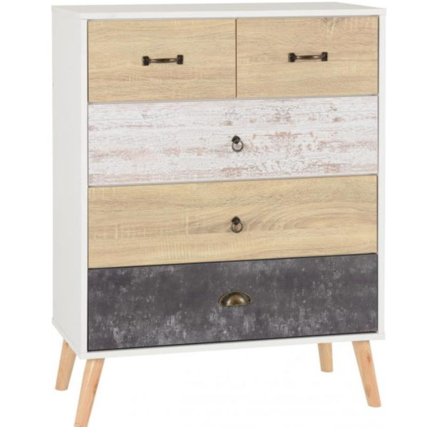 BBS1295  Nordic 3 plus 2 chest of drawers