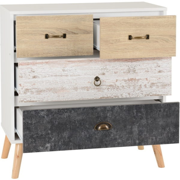 BBS1296  Nordic 2 plus 2 chest of drawers