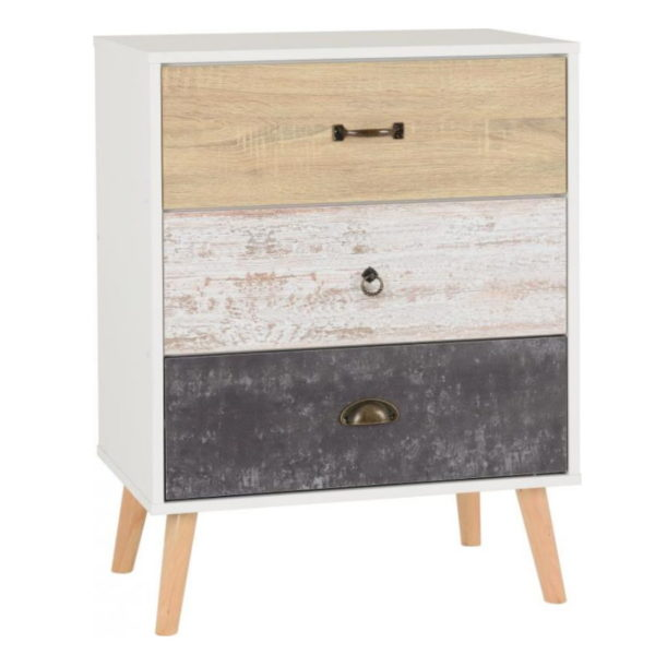 BBS1297  Nordic 3 drawer chest of drawers