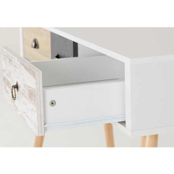BBS1298  Nordic 3 drawer console table.