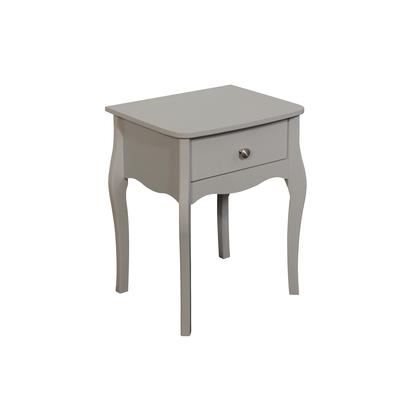 BBS1339  Baroque 1 Drawer Nightstand in Grey