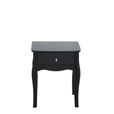 BBS1341  Baroque 1 Drawer Nightstand in Dark Coffee