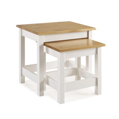 BBS1355  Whitney Nest of 2 Tables - White