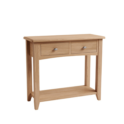BBS1359  GAO Console Table with solid oak frame.