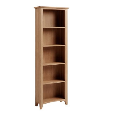 BBS1362  GAO Tall Bookcase with solid oak frame.