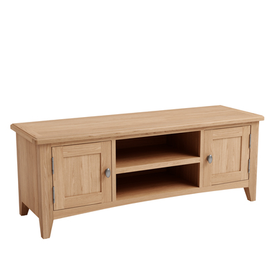 BBS1364  GAO Large TV Unit with solid oak frame.