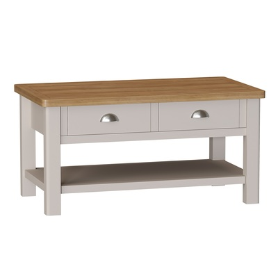 BBS1377  RA Large Coffee Table in Oak and Dove Grey
