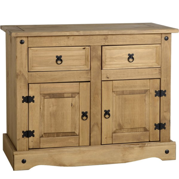 BBS1421  Corona 2 door 2 drawer sideboard in distressed waxed pine.