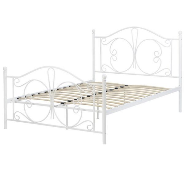 BwBS1433  Annabel 4ft6 bed in White.