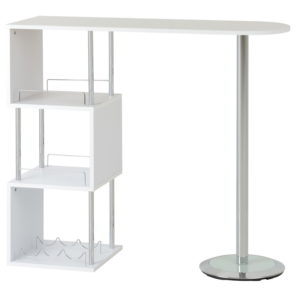 BBS1435  Charisma home bar in White Gloss.