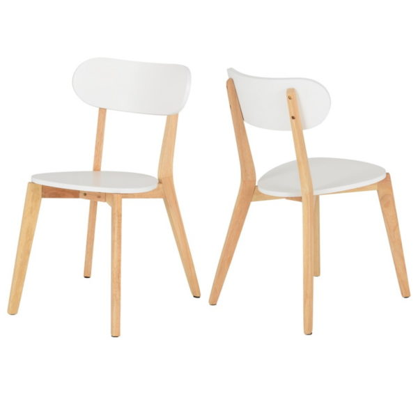BBS1440  Julian dining set with 4 chairs in White.