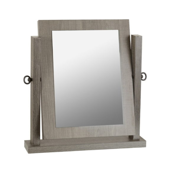 BBS1445  Lisbon dressing table mirror in Black wood grain