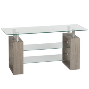 BBS1453  Milan TV unit in Light Charcoal and Glass.