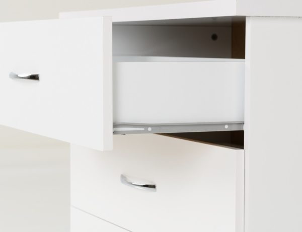 BBS1457  Nevada 3 drawer Chest in White.