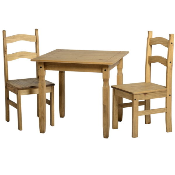 BBS1463  Rio small dining set with 2 chairs.