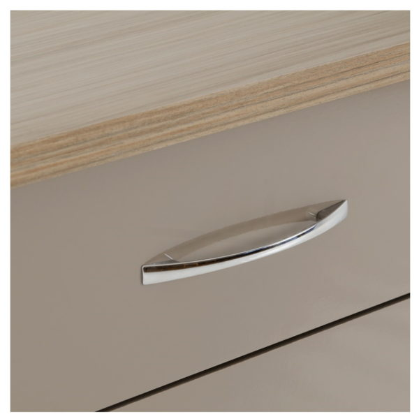 BBS1472  Nevada 5 drawer tallboy in Oyster gloss.