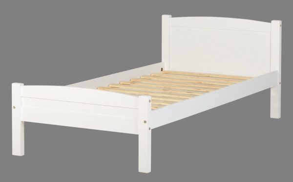 BuBS164  Amber 3Ft Bed in White