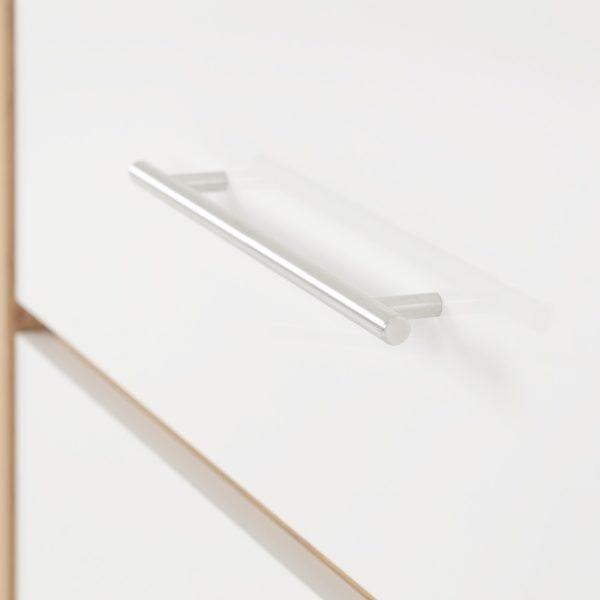 BBS228  Seville 3 Drawer Chest  in White