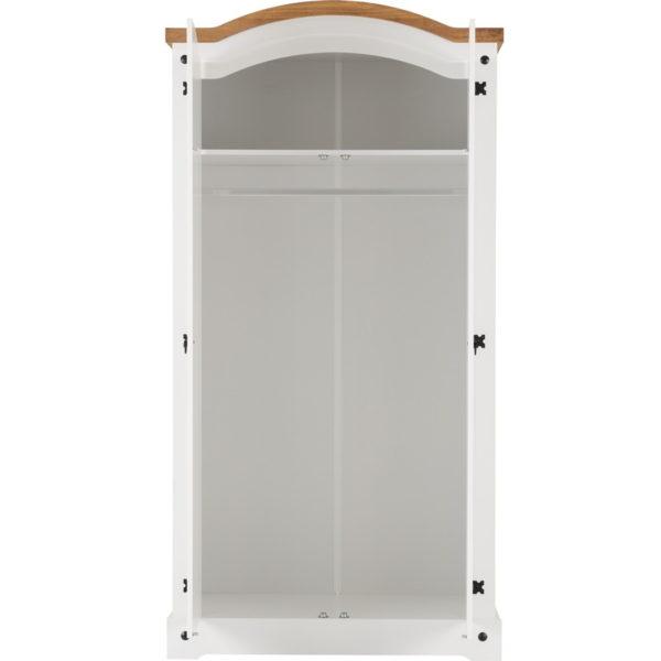BBS500  Corona 2 Door Wardrobe   in White