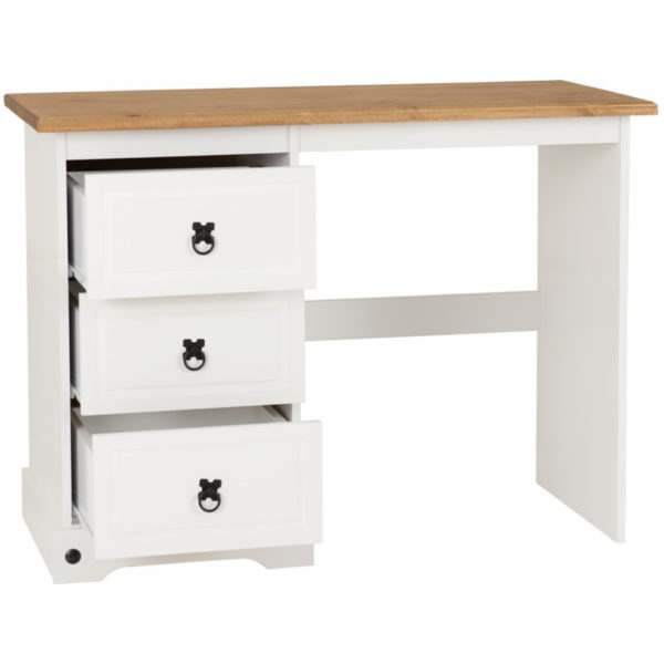 BBS504  Corona 3 Drawer Dressing Table in  White