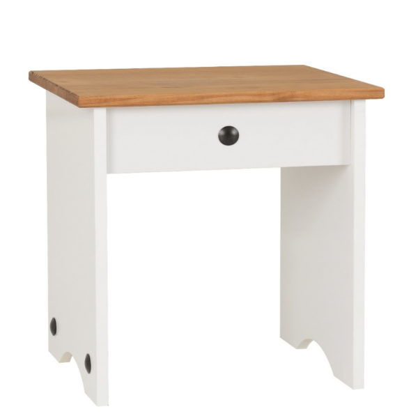 BBS505  Corona Dressing Table Stool  in White