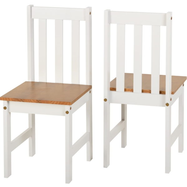 BBS590  LUDLOW dining set with 6 chairs in Oak white