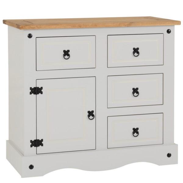 BBS622  Corona 1 door 4 drawer sideboard in Grey
