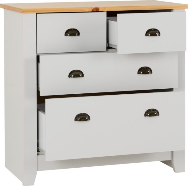 BBS788  LUDLOW  two and two DRAWER CHEST