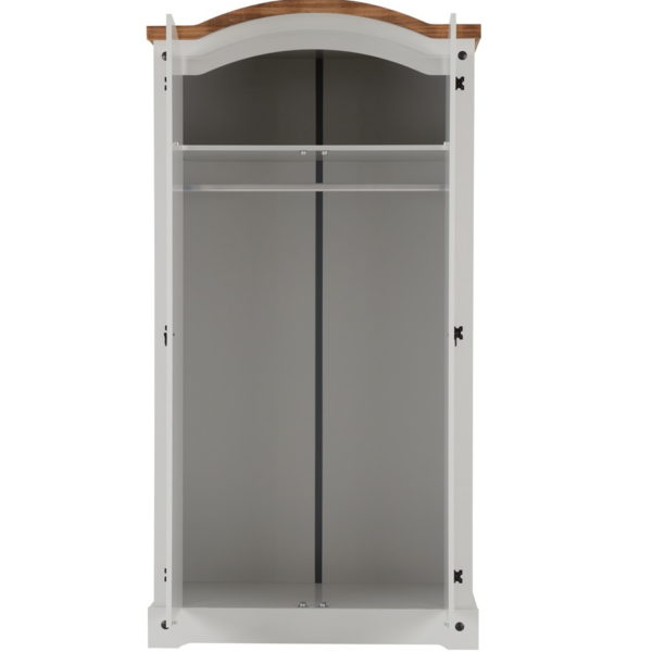 BBS895  CORONA 2 DOOR WARDROBE in Grey