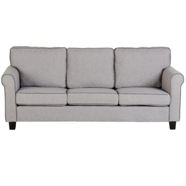 BBS1502  Bailey 3 Seater Sofa in Light Grey