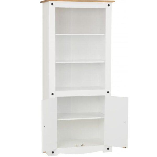 BBS1503  Corona 2 door display cabinet / bookcase in White